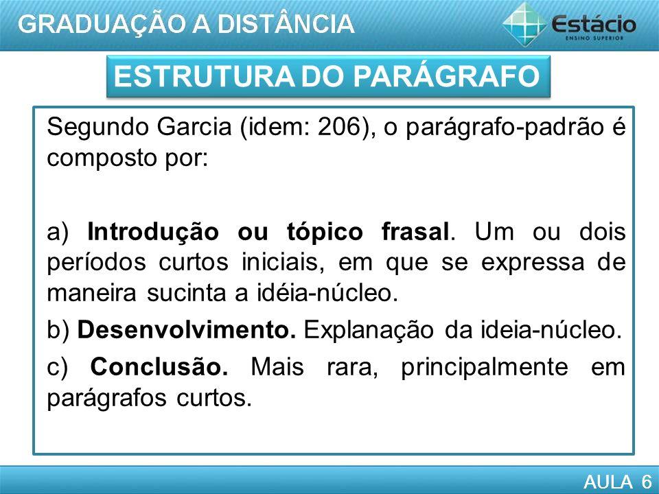 ESTRUTURA DO PARÁGRAFO