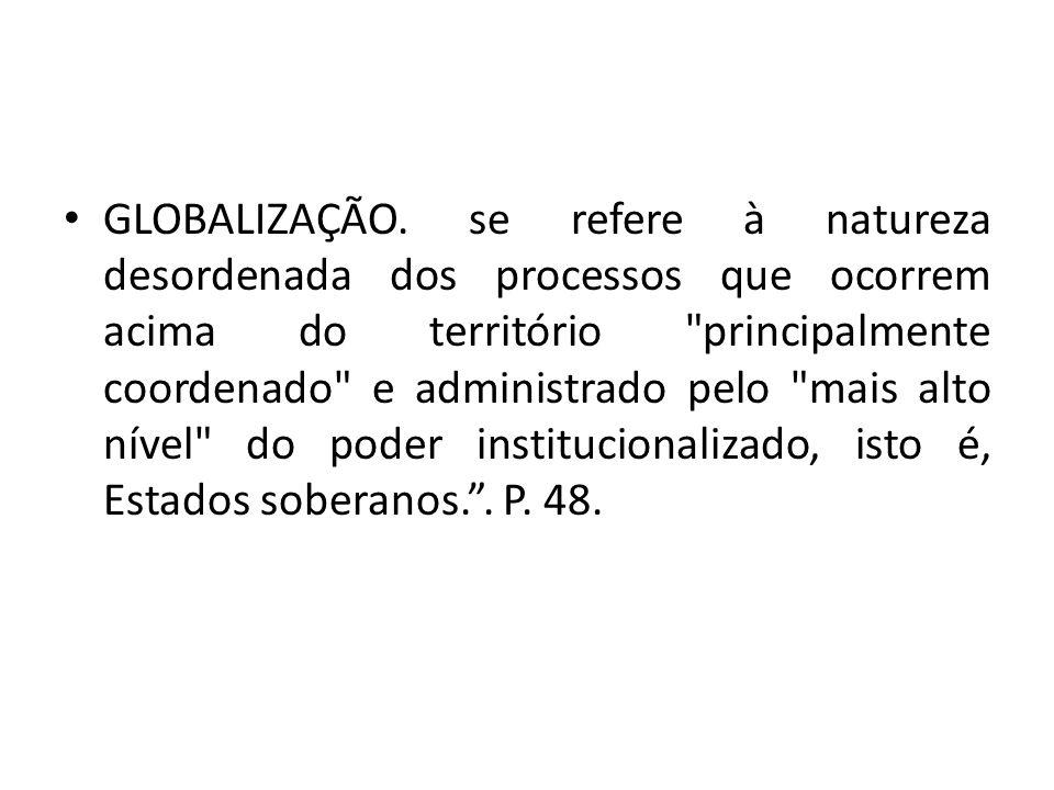 GLOBALIZAÇÃO.