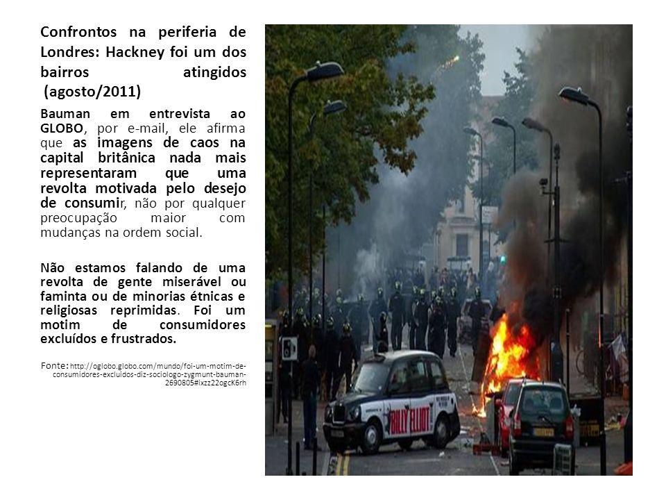 Confrontos na periferia de Londres: Hackney foi um dos bairros atingidos (agosto/2011)