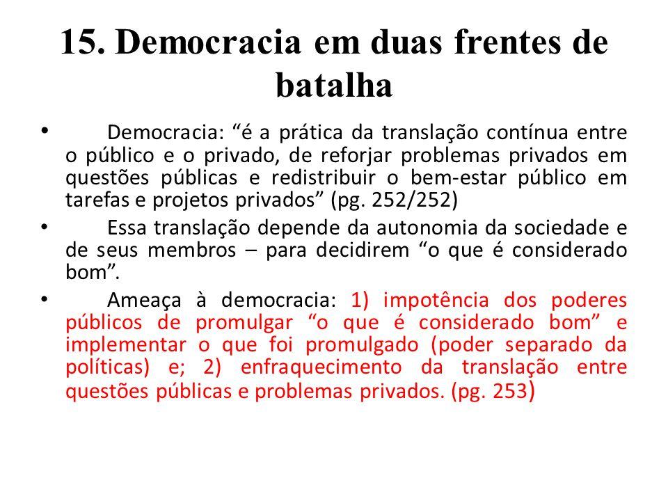 15. Democracia em duas frentes de batalha