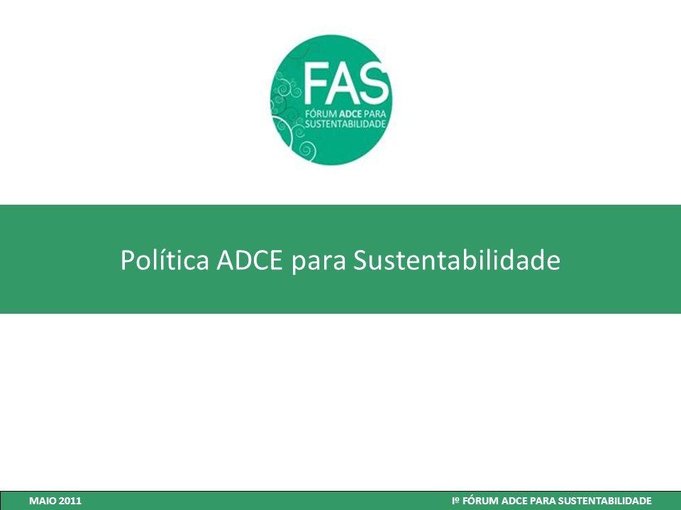Política ADCE para Sustentabilidade