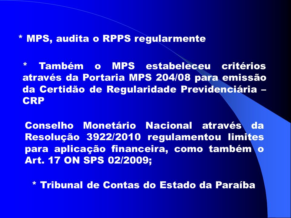 * MPS, audita o RPPS regularmente
