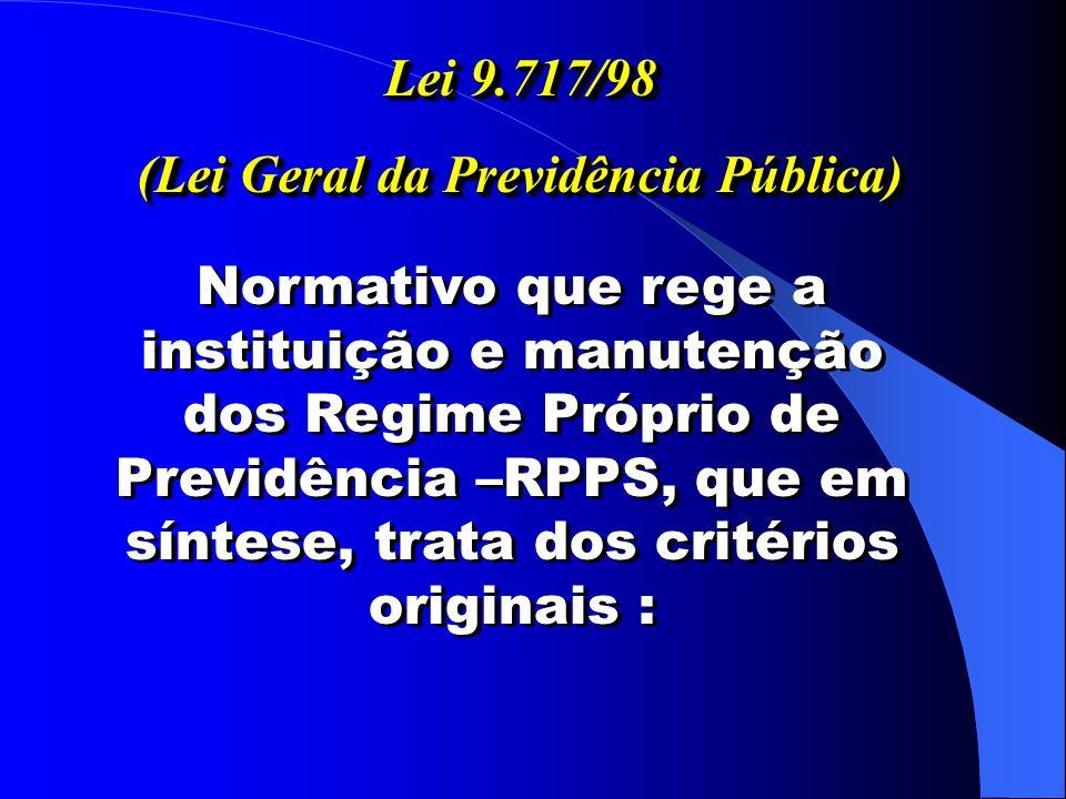 (Lei Geral da Previdência Pública)