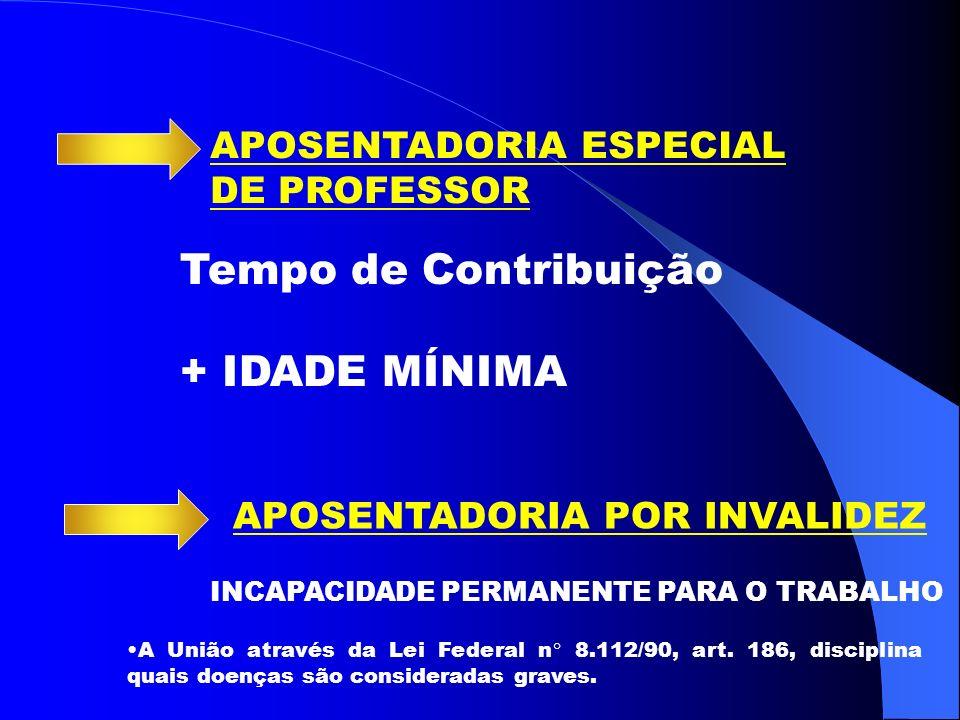 Tempo de Contribuição + IDADE MÍNIMA APOSENTADORIA ESPECIAL