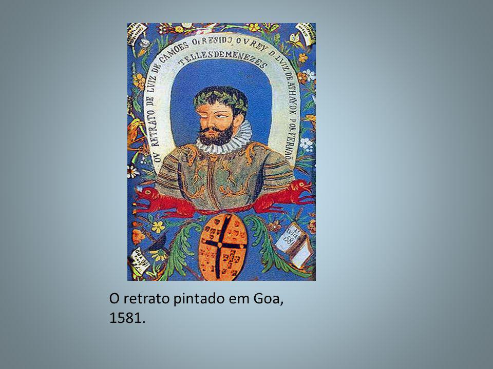 O retrato pintado em Goa, 1581.