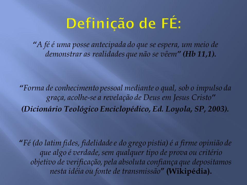 Definição de FÉ: