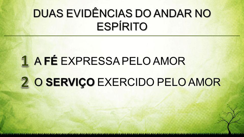 DUAS EVIDÊNCIAS DO ANDAR NO ESPÍRITO