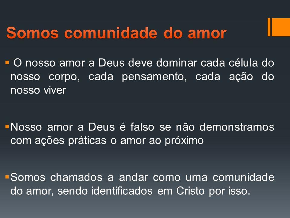Somos comunidade do amor