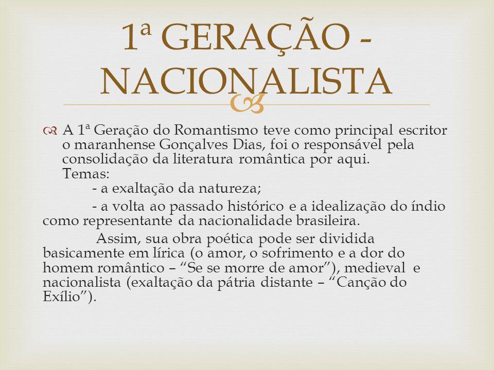 1ª GERAÇÃO - NACIONALISTA