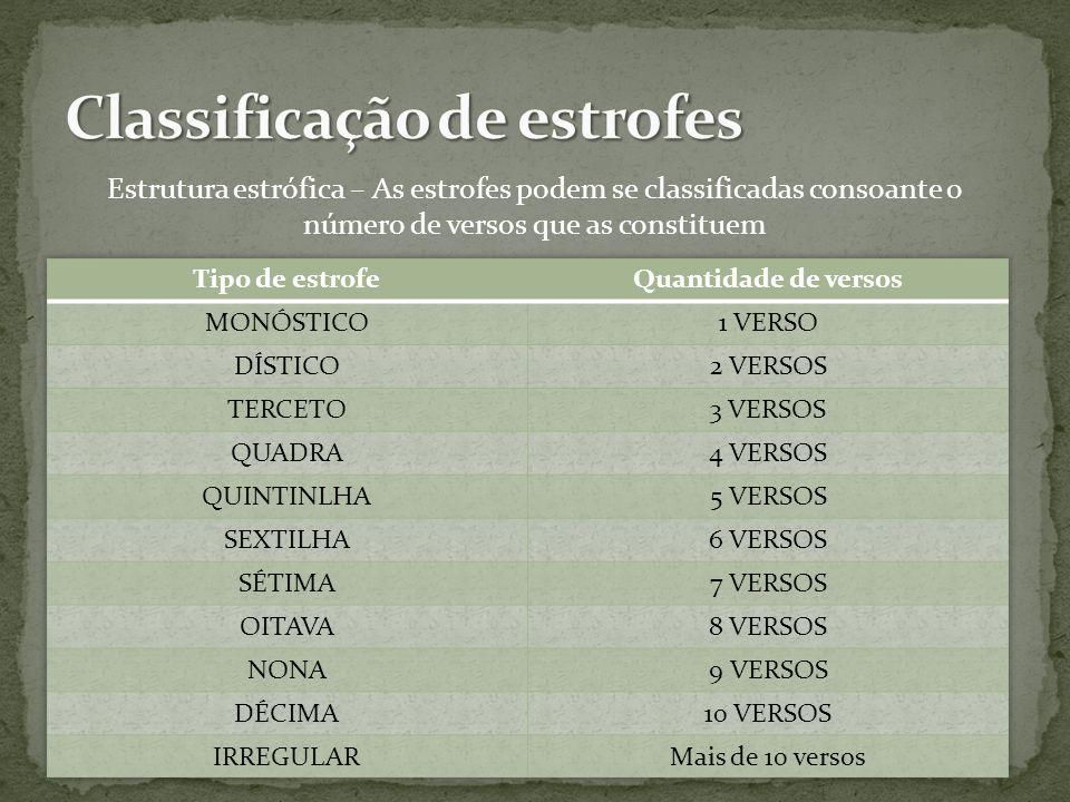 Classificação de estrofes