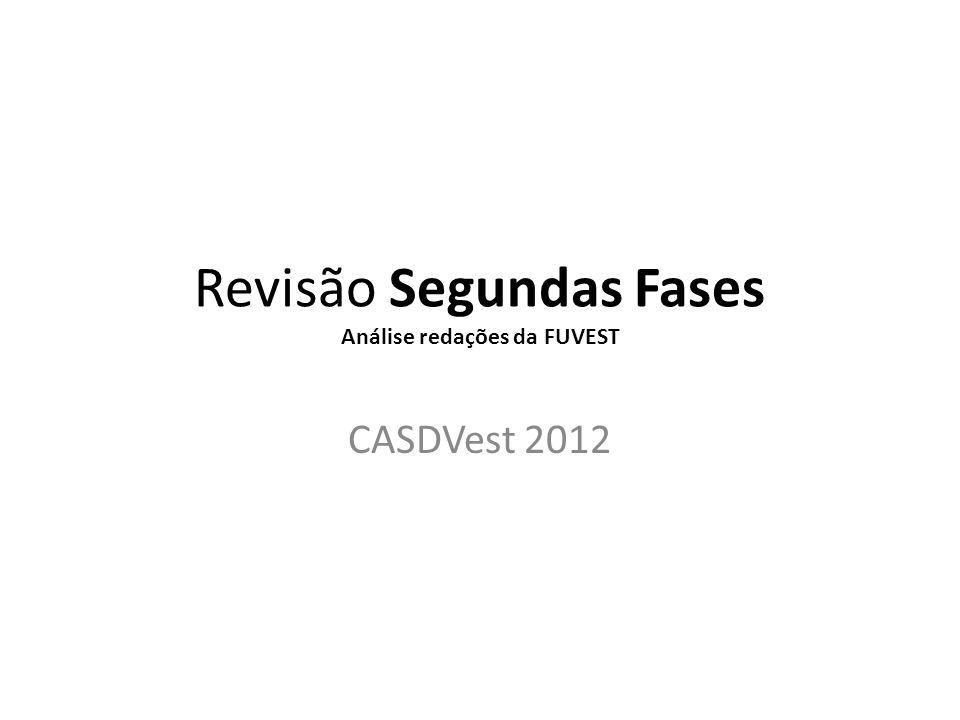 Revisão Segundas Fases Análise redações da FUVEST