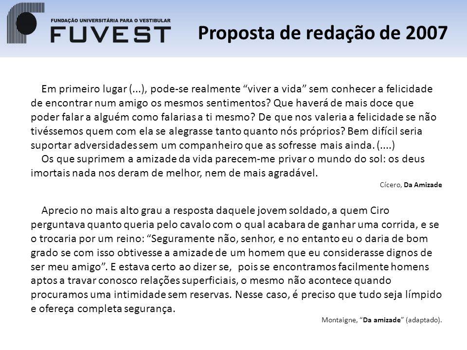 Proposta de redação de 2007