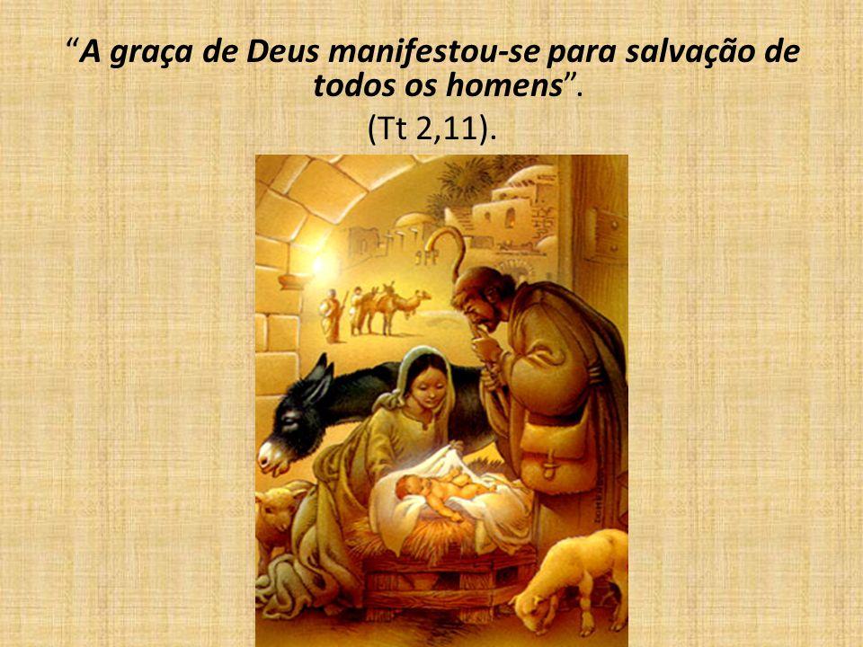 A graça de Deus manifestou-se para salvação de todos os homens .