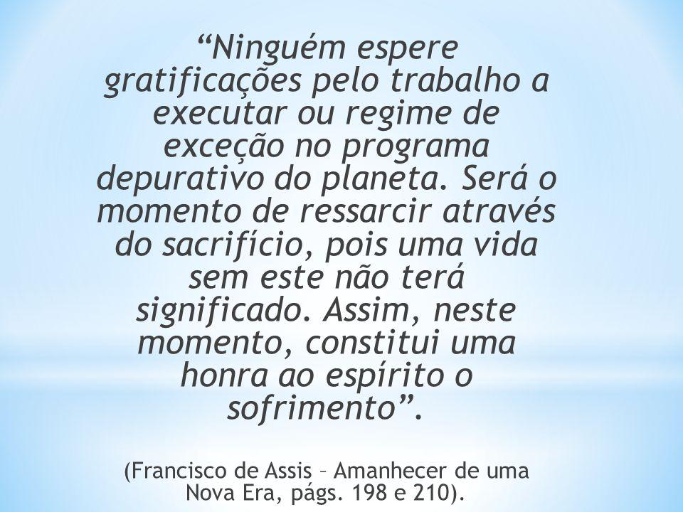 (Francisco de Assis – Amanhecer de uma Nova Era, págs. 198 e 210).