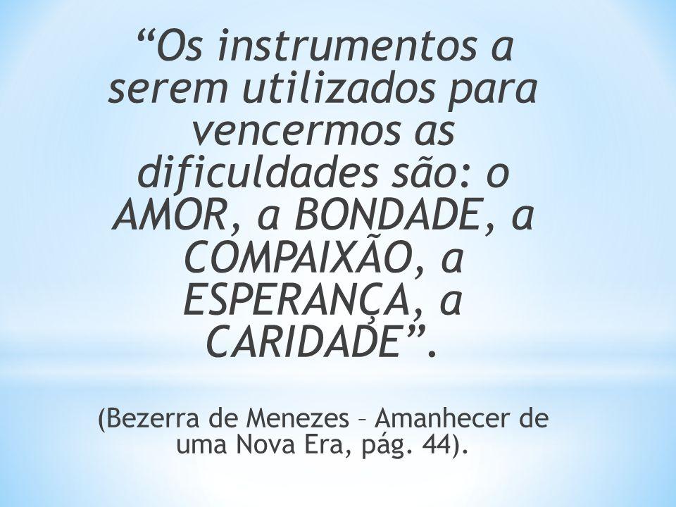 (Bezerra de Menezes – Amanhecer de uma Nova Era, pág. 44).