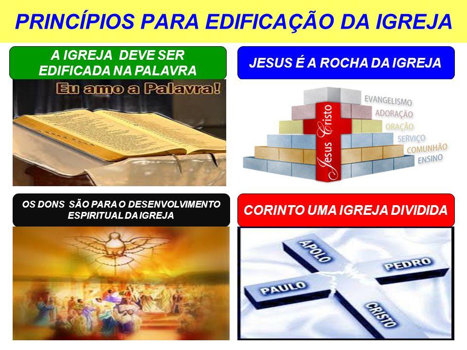 PRINCÍPIOS PARA EDIFICAÇÃO DA IGREJA