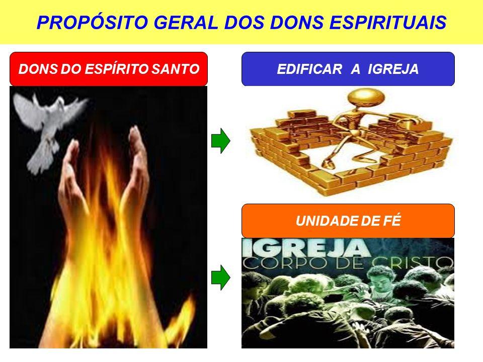 PROPÓSITO GERAL DOS DONS ESPIRITUAIS
