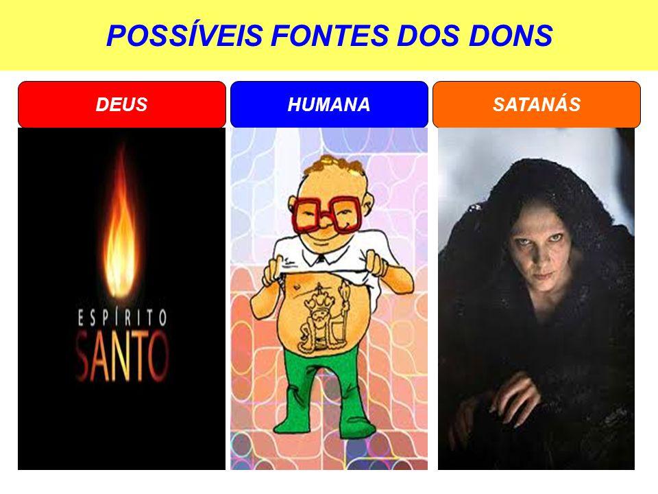 POSSÍVEIS FONTES DOS DONS