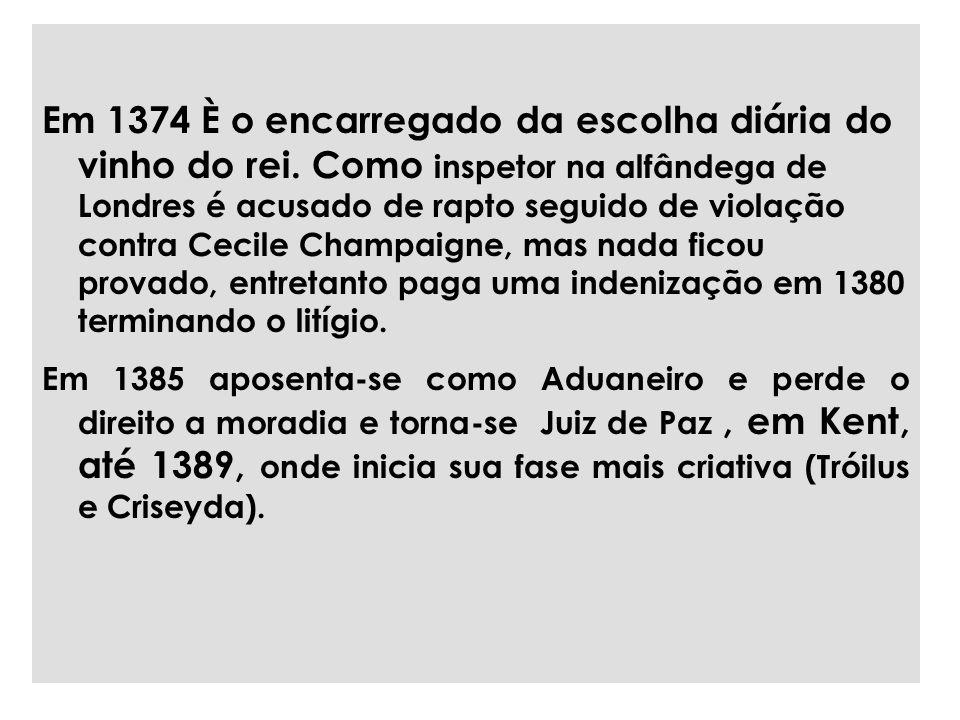 Em 1374 È o encarregado da escolha diária do vinho do rei