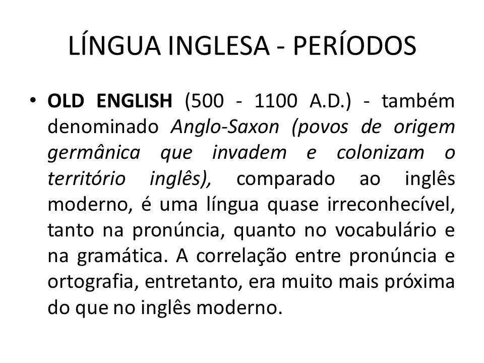 LÍNGUA INGLESA - PERÍODOS