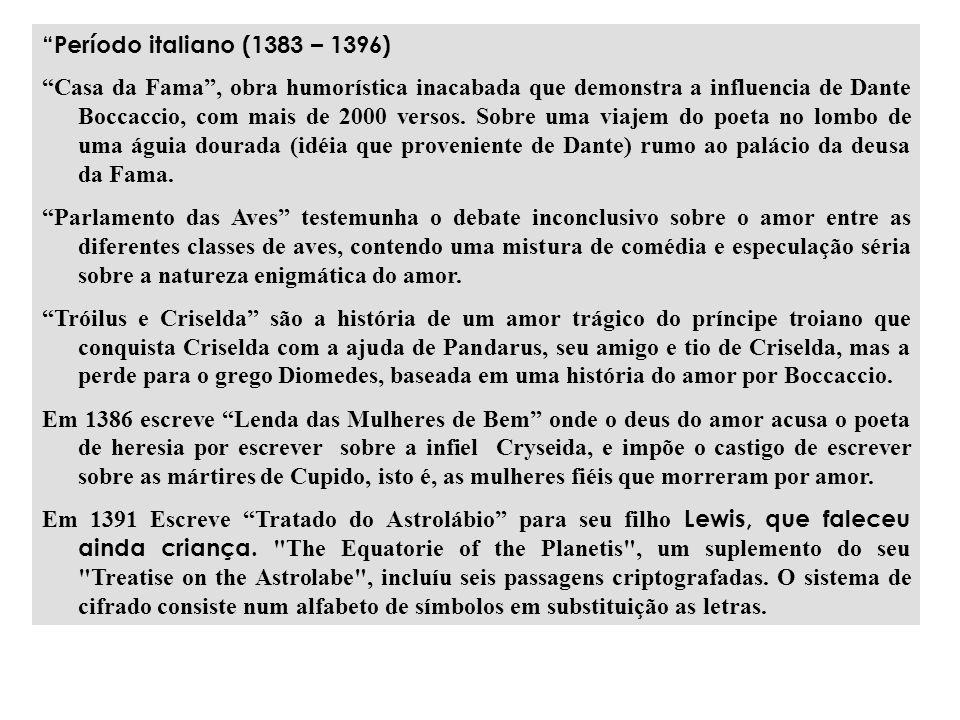 Período italiano (1383 – 1396)