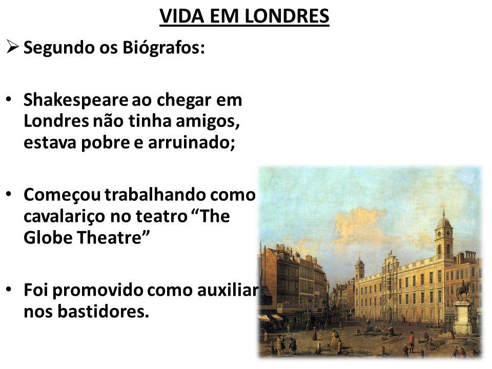 VIDA EM LONDRES Segundo os Biógrafos: