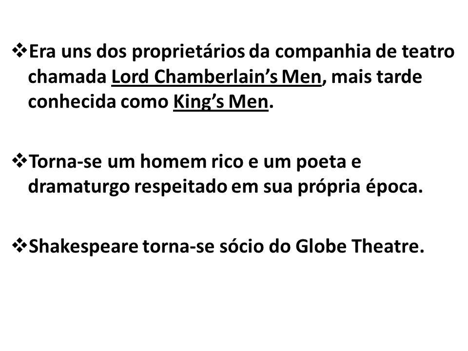 Era uns dos proprietários da companhia de teatro chamada Lord Chamberlain's Men, mais tarde conhecida como King's Men.