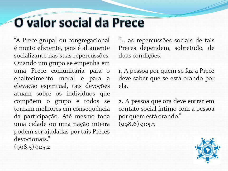 O valor social da Prece