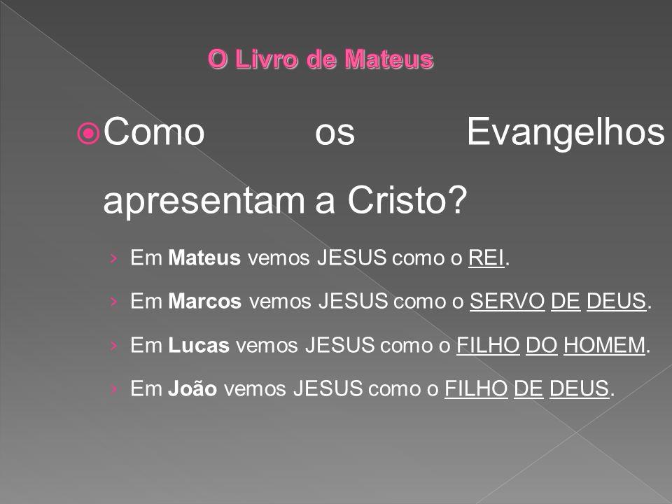 Como os Evangelhos apresentam a Cristo