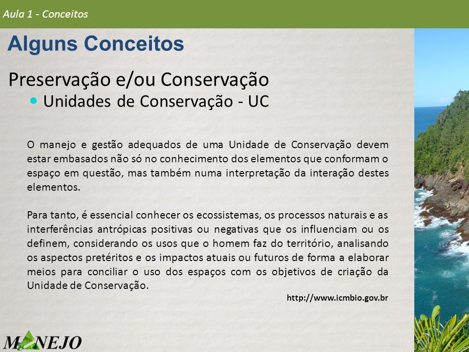 Preservação e/ou Conservação