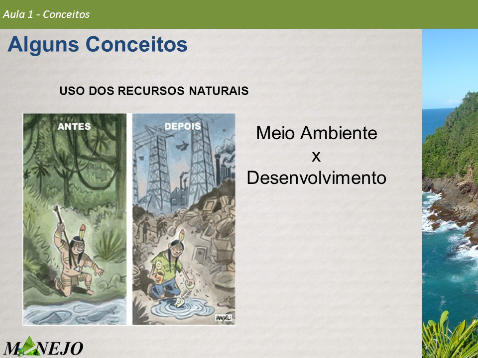 Alguns Conceitos Meio Ambiente x Desenvolvimento Aula 1 - Conceitos