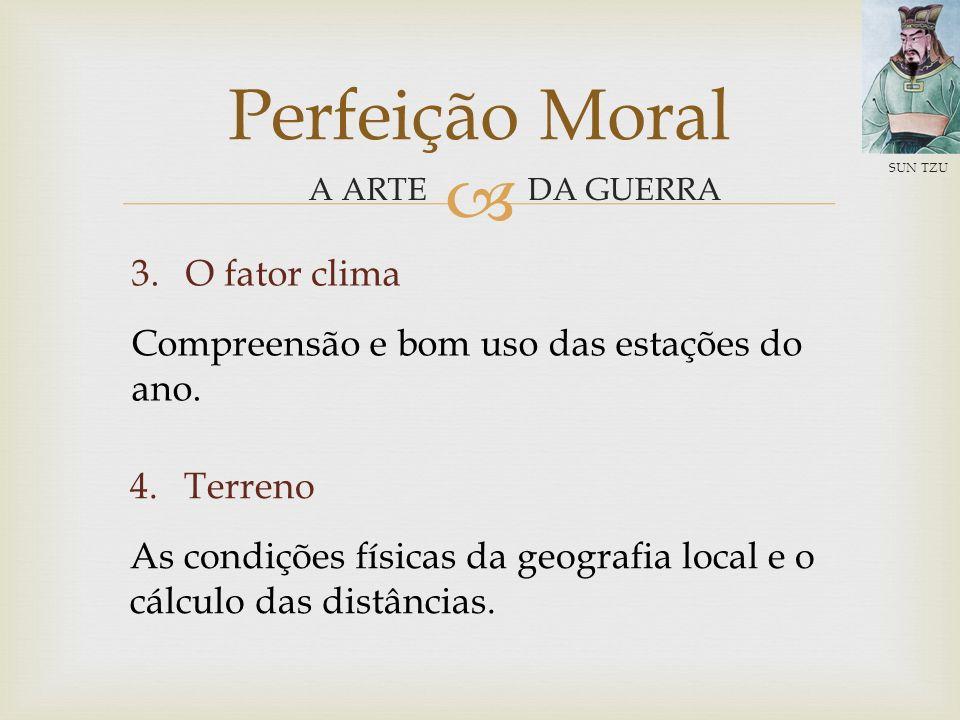 Perfeição Moral O fator clima