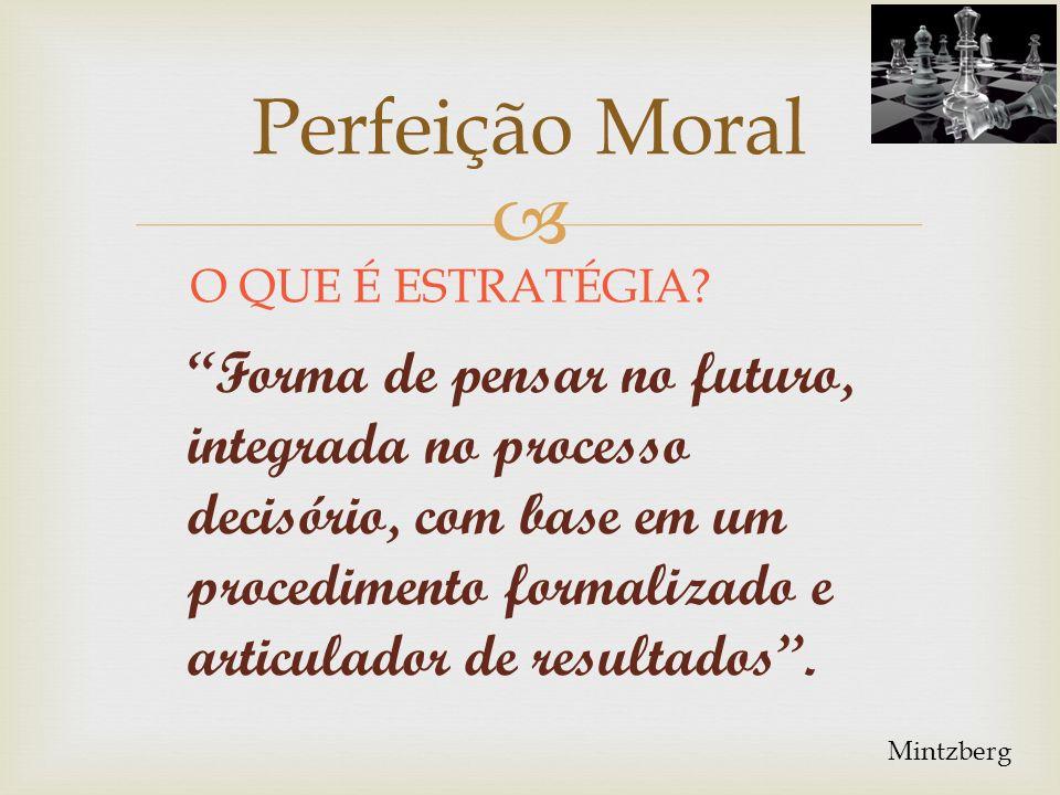 Perfeição Moral O QUE É ESTRATÉGIA