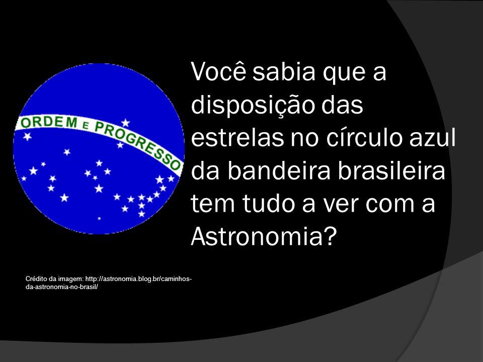 Você sabia que a disposição das estrelas no círculo azul da bandeira brasileira tem tudo a ver com a Astronomia
