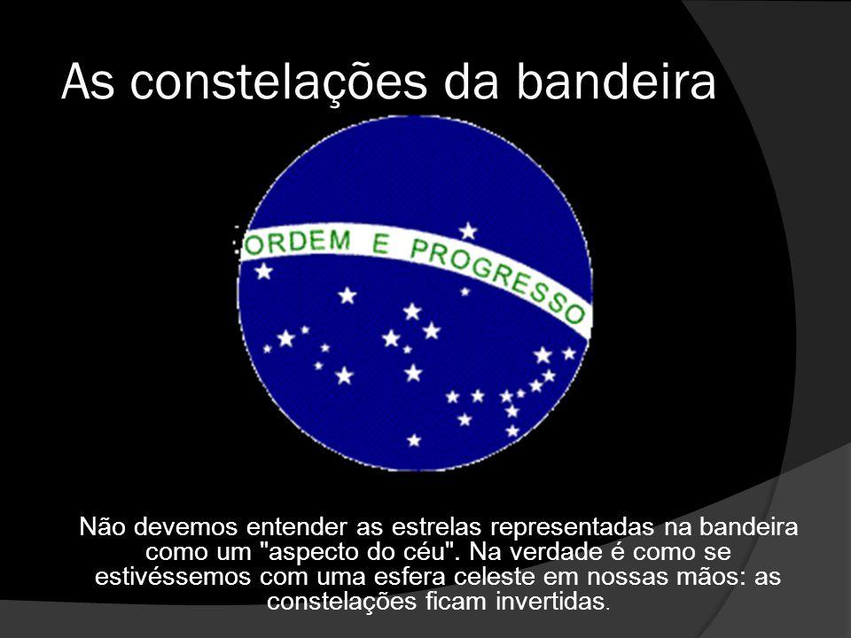 As constelações da bandeira