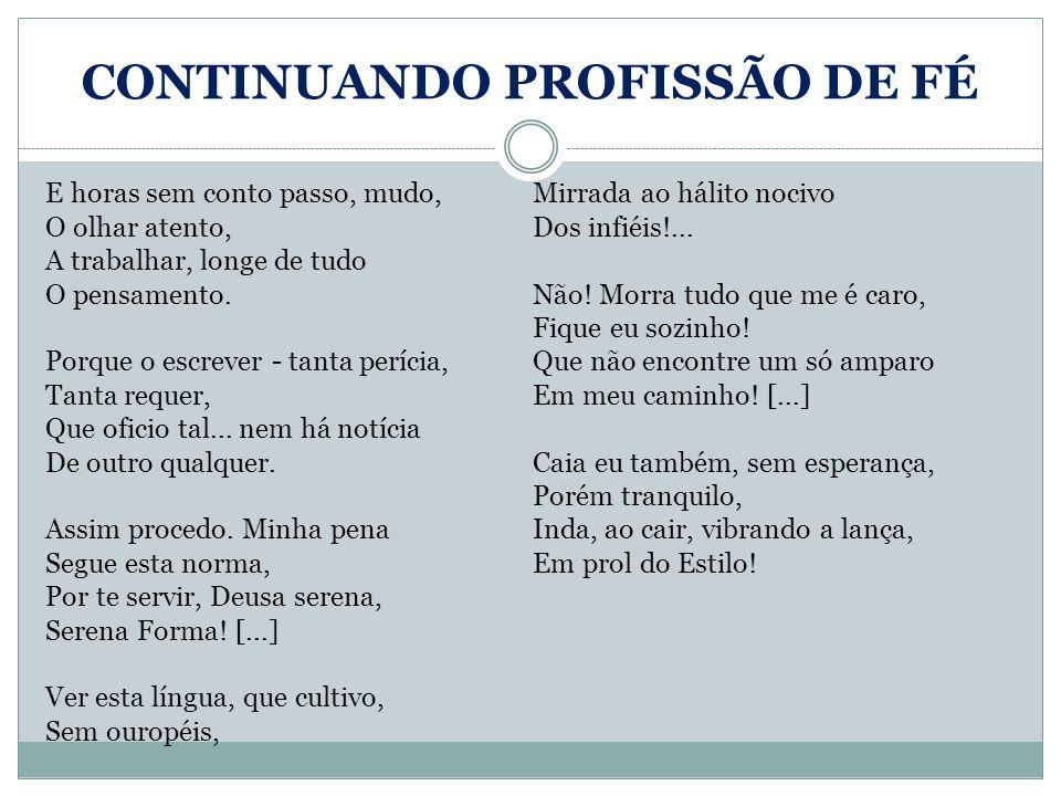 CONTINUANDO PROFISSÃO DE FÉ
