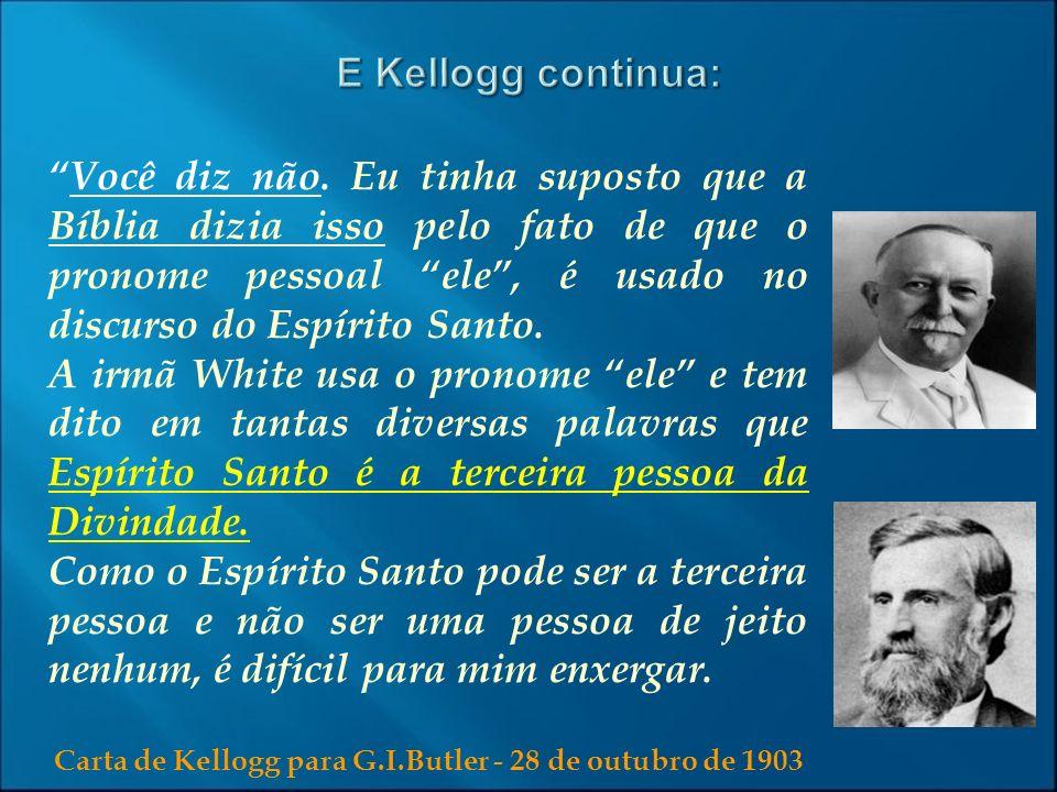 Carta de Kellogg para G.I.Butler - 28 de outubro de 1903