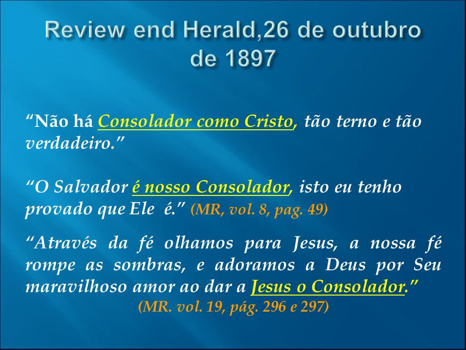 Review end Herald,26 de outubro de 1897