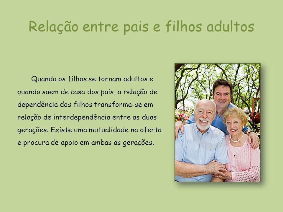 Relação entre pais e filhos adultos