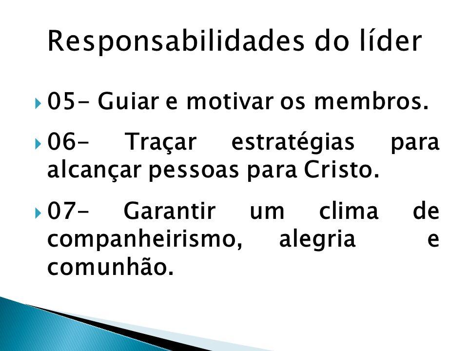 Responsabilidades do líder