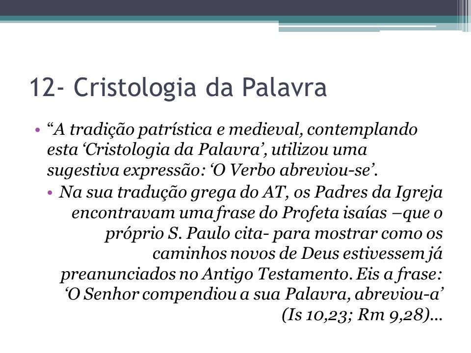 12- Cristologia da Palavra