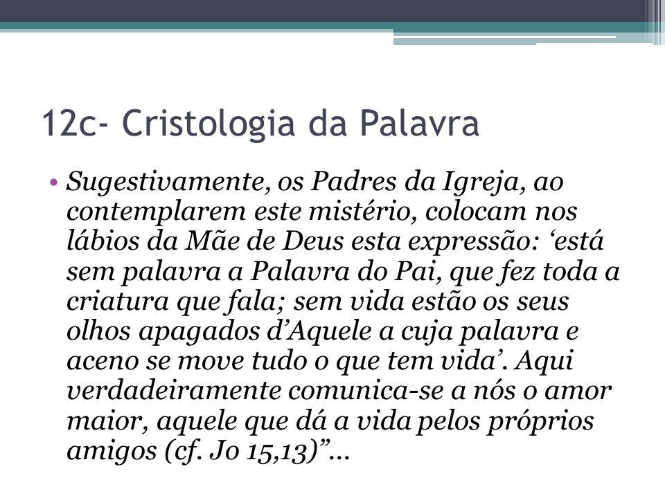 12c- Cristologia da Palavra