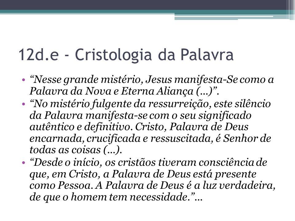 12d.e - Cristologia da Palavra