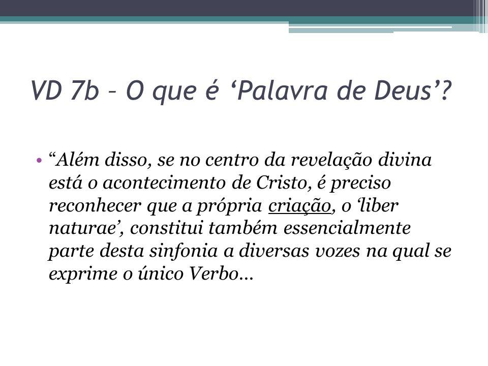 VD 7b – O que é 'Palavra de Deus'