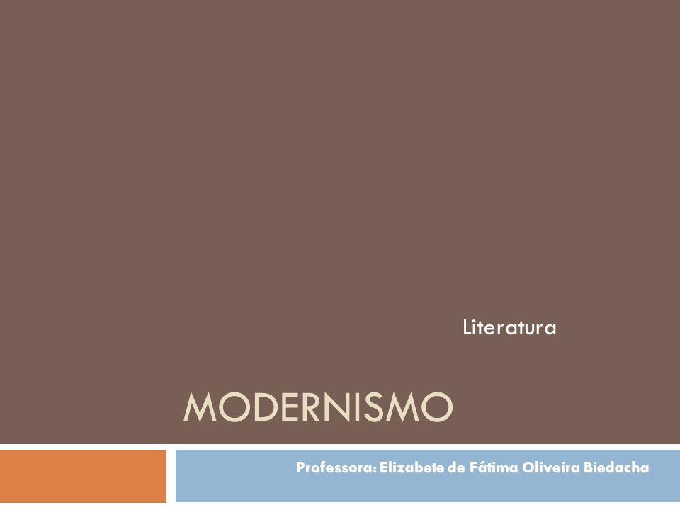 MODERNISMO Literatura