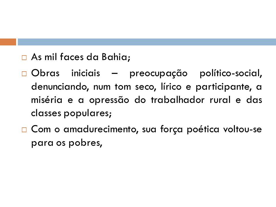 As mil faces da Bahia;