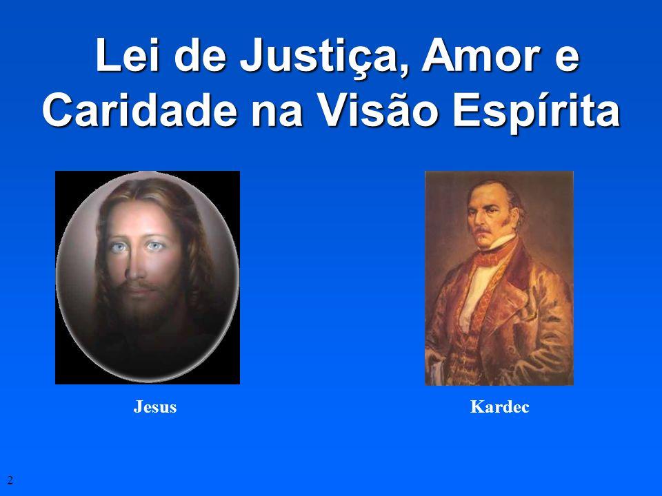 Lei de Justiça, Amor e Caridade na Visão Espírita