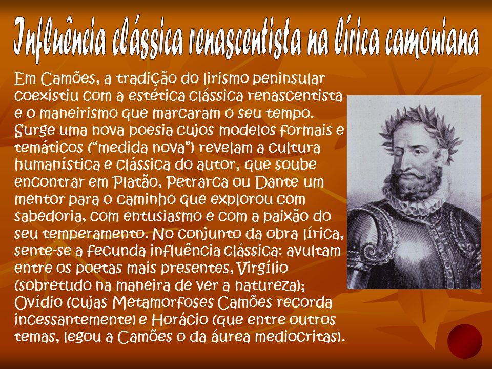 Influência clássica renascentista na lírica camoniana