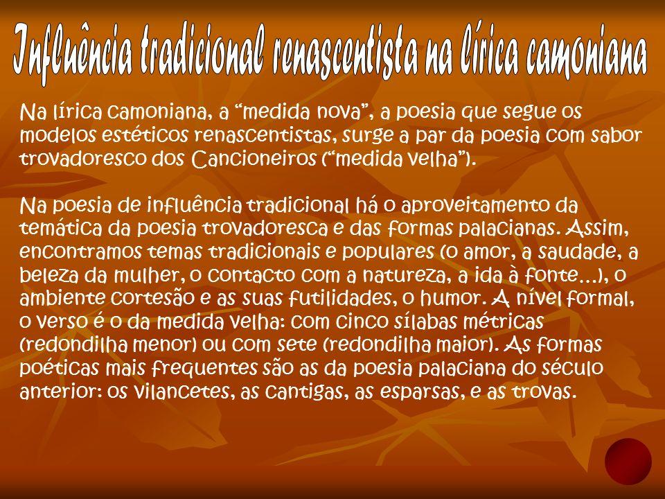 Influência tradicional renascentista na lírica camoniana