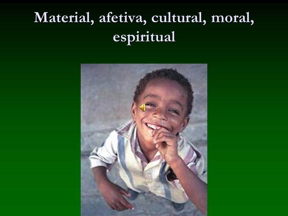 Material, afetiva, cultural, moral, espiritual
